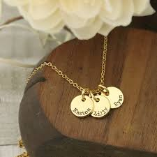 tiny gold disc necklace silver disc