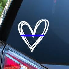 Thin Blue Line Decal Etsy