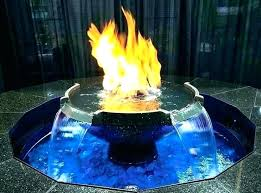garden fire pit water feature combo and
