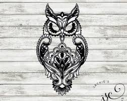 Owl Decal Etsy