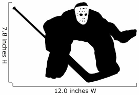 Ice Hockey Goalie Wall Decal Wallmonkeys Com