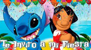 Invitacion Video Digital Lilo Stitch Cumpleanos 390 00 En