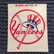 Vintage 80 S New York Yankees Sticker Decal Square Mlb Baseball Window Car New York Yankees Mlb Baseball New York Yankees Baseball