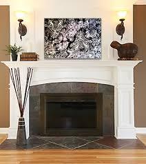 above fireplace idea mirror decorating