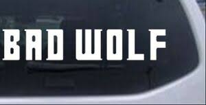 Doctor Who Bad Wolf Car Or Truck Window Laptop Decal Sticker 10x1 8 Ebay
