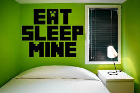 Eat Sleep Mine Gamer S Room Minecraft Giant Wall Decal Wall Stickers Store Uk Shop With Wall Stickers Wall Decals Product Decal Decor Wall Sticker