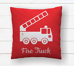 Amazon Com Dozili Fireman Decor Throw Pillow Covers Fire Truck Fire Engine Firefighter Nursery Little Boys Room Kids Bedroom Fire Fighter Cushion Cover Home Kitchen