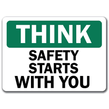 Think Safety Starts With You 3 Pack Of Vinyl Decal Stickers 3 3 X 5 Walmart Com Walmart Com
