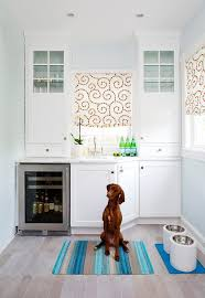 Kitchen Pantry With Gray Picket Fence Tiles Transitional Kitchen