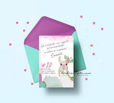 Invitacion Imprimible De Alpaca Llama Andreamata Com