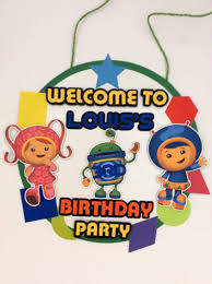 Team Umizoomi Puerta Sign Team Umizoomi Party Sign Etsy