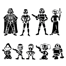 7cm 30cm Car Stickers Star Wars Family Character Car Window Pvc Vinyl Decoration Funny Car Sticker And Decals Car Styling Car Stickers Aliexpress
