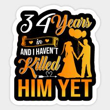 34th wedding anniversary gift shirt for