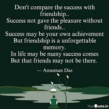 don t compare the success quotes writings by ansuman das