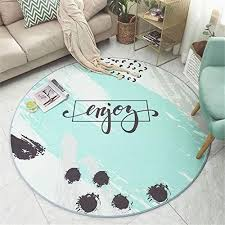 irregular pattern rug mint green rug