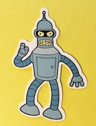 Futurama Angry Bender Skateboard Laptop Cell Phone Car Decal Sticker In 2020 Car Decals Stickers Futurama Car Decals