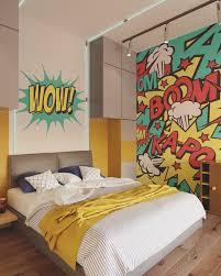 Pop Art Bedroom Google Search In 2020 Yellow Kids Rooms Stylish Bedroom Design Colorful Bedroom Design