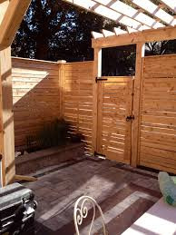 Pre Made Cedar Horizontal Fence Panels With Gate And Pergola Supplied And Installed By Lanark Cedar Horizontal Fence Backyard Patio Designs Pergola