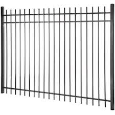 Lafayette 6 Ft H X 8 Ft W Black Steel Pressed Point Decorative Fence Panel In The Metal Fence Panels Department At Lowes Com