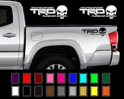 Used Trd Punisher Edition Decals Toyota Tacoma Tundra Truck Vinyl Stickers X2 2018 2019 Mycarboard Com