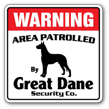 Great Dane Street 3 Pack Of Vinyl Decal Stickers Indoor Outdoor Funny Decoration For Laptop Car Garage Bedroom Offices Signmission Walmart Com Walmart Com