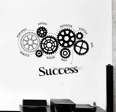 Quotes Vinyl Wall Decal Success Words Gears Office Motivation Removable Art Stickers Inspirational Wall Sticker For Office Zb465 Inspirational Wall Stickers Wall Stickerstickers For Aliexpress