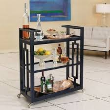 42 tall bar cart solid wood black ink