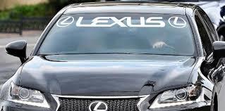 Product Lexus Windshield Sticker Banner Decal Vinyl Luxury Toyota Window Graphic Custom