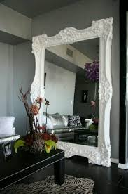 fancy white frame wall mirrors