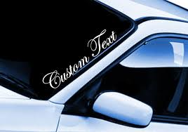 Custom Text Sticker Car Lettering Name Jdm Euro Windshield Decal Daily Driven Jdm Car Lettering Windshield