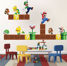 Super Mario Bros Wall Decal Video Game Wall Decal Murals Super Mario Room Mario Room Mario Bros Room
