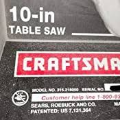 Amazon Com Craftsman A121010901 Table Saw Rip Fence Assembly Home Improvement