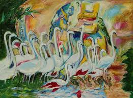 flamingo animal art large size