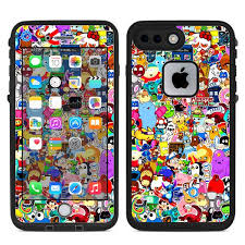 Skin Decal For Lifeproof Fre Iphone 7 Plus Or Iphone 8 Plus Case Sticker Collage Sticker Pack Itsaskin Com