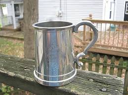 english pewter beer stein or mug glass