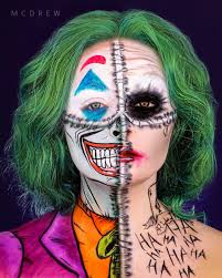 makeup artist creates joker look four