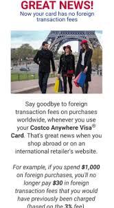 citi costco card removes foreign