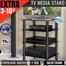 stand component shelf 4 tier hifi rack