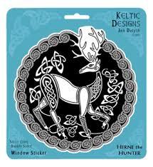Stag Window Decal By Welsh Artist Jen Delyth Celtic Art Studio
