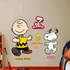 Charlie Brown And Snoopy Wall Decal Allposters Com