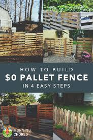 build a pallet fence for almost 0