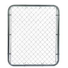 4 Ft H X 4 Ft W Galvanized Steel Chain Link Fence Gate In The Chain Link Fence Gates Department At Lowes Com