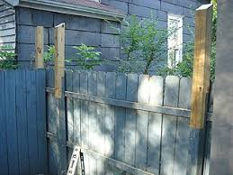 Extend And Laminate Each Post Down The Fence Dog Ear Fence Wood Privacy Fence Fence Post