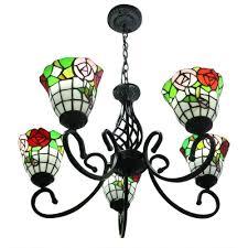 5 light vintage style hanging