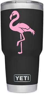 Amazon Com Viavinyl Flamingo Decal Perfect For Yeti And Rtic Tumbler Mugs And Cups Iphone And Android Macbook And Laptops Ipads And Tablets And More Soft Pink Kitchen Dining