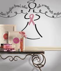 York Wallcovering Breast Cancer Angel Peel Stick Giant Wall Decal Wallpaper