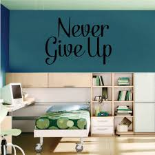 Girly Never Give Up Wall Decal Vinyl Decal Car Decal Vd018 36 Inches Walmart Com Walmart Com