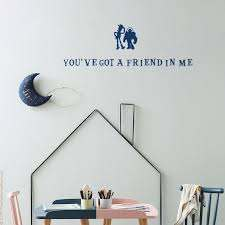 Toy Story Inspired Wall Decal Word Decal Friend In Me Wall Etsy