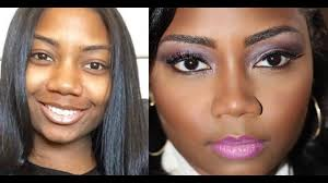 makeup for round face wide nose dark