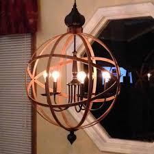 orb chandelier light 23 industrial